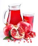 Pomegranate juice with pomegranate Royalty Free Stock Photography