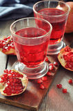 Pomegranate juice Royalty Free Stock Photos