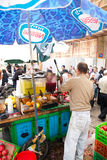 Pomegranate juice seller in Jerusalem Royalty Free Stock Photo