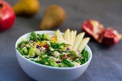 Pomegranate_Kale_Salad stock fotografie