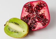 Pomegranate and Kiwi fruit Royalty Free Stock Images