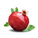 Pomegranate Low Poly Watercolor Stock Photo