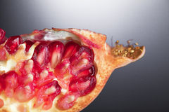 Pomegranate macro Stock Images