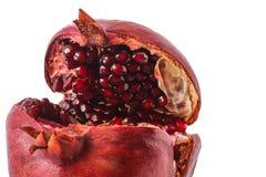 Pomegranate Macro on the White Background Stock Photos