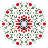 Pomegranate Mandala Royalty Free Stock Photography