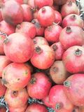 Pomegranate in market. Close up of pomegranate in market royalty free stock photo