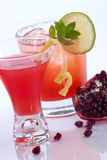 Pomegranate martini and Mojito Royalty Free Stock Photos