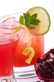 Pomegranate martini and Mojito - Most popular cock Stock Images