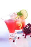 Pomegranate martini and Mojito - Most popular cock Stock Photo