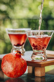 Pomegranate martinis Royalty Free Stock Image