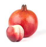 Pomegranate and nectarine Royalty Free Stock Photos