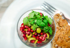 Pomegranate and olives salad Royalty Free Stock Photos