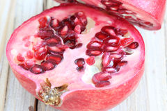Pomegranate. One and a half pomegranate stock photo
