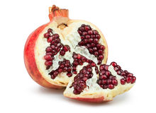 Pomegranate open section Royalty Free Stock Photo
