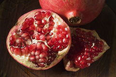 Pomegranate Open with Seeds Stock Image