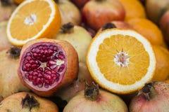 Pomegranate & Orange Stock Images