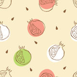 Pomegranate pattern Stock Image