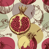 Pomegranate pattern Royalty Free Stock Photography
