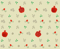 Pomegranate Pattern Royalty Free Stock Photo