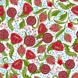 Pomegranate Pattern Stock Photo