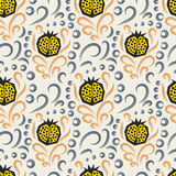 Pomegranate pattern. Seamless ornament. Stock Images