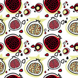 Pomegranate pattern vector Stock Photography