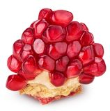 Pomegranate piece. Isolated on white background. Clipping Path. Full depth of field Royalty Free Stock Photography