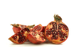 Pomegranate pieces(Punica granatum) Royalty Free Stock Image