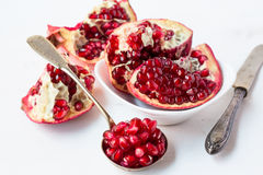 Pomegranate pieces. Stock Images