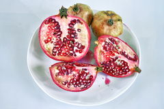 Pomegranate. S. Still life. Grains are visible Royalty Free Stock Photo