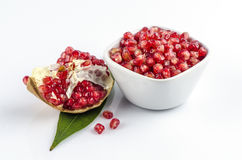Pomegranate , Punica apple (Punica granatum L.) Royalty Free Stock Image