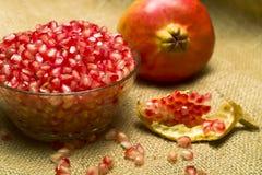 Pomegranate (Punica granatum). Fruit o natural sheet royalty free stock images