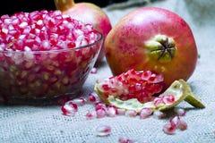Pomegranate (Punica granatum). Fruit o natural sheet royalty free stock photography