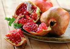 pomegranate ripe fruit Royalty Free Stock Photo