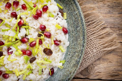 Pomegranate risotto. Stock Images