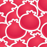 Pomegranate seamless background Royalty Free Stock Photos