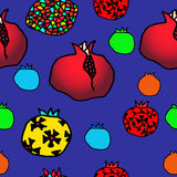 Pomegranate seamless pattern. Seamless color pomegranate pattern  illustration Royalty Free Stock Images