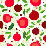 Pomegranate seamless pattern. Garnet fruit endless background. Textile rapport Stock Image