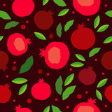 Pomegranate seamless pattern. Garnet fruit endless background. Textile rapport Stock Images