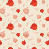 Pomegranate seamless pattern for Rosh hashana Royalty Free Stock Photography