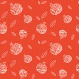 Pomegranate seamless pattern for Rosh hashana Royalty Free Stock Photos