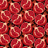 Pomegranate Seamless Pattern Stock Photo