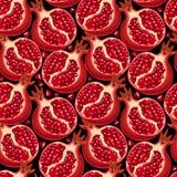 Pomegranate Seamless Pattern Stock Photo