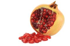Pomegranate with seed Royalty Free Stock Photography