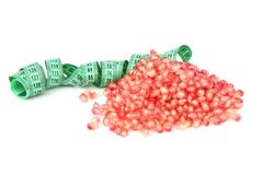 Pomegranate seed and meter Stock Photography