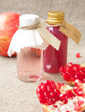Pomegranate seed oil Stock Photo