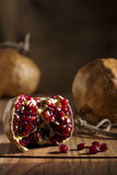 Pomegranate with Seeds Stock Image