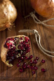 Pomegranate with Seeds Royalty Free Stock Photos