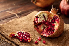 Pomegranate with Seeds Royalty Free Stock Photo