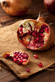 Pomegranate with Seeds Stock Photos